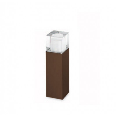 Traddel - Paletti luminosi da giardino - I-Cube - Paletto esterni 300 mm - Corten -  - Bianco caldo - 3000 K - Diffusa