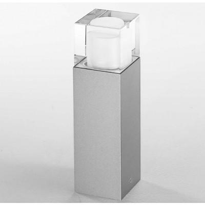 Traddel - Paletti luminosi da giardino - I-Cube - Paletto esterni 300 mm - Grigio zirconio -  - Bianco caldo - 3000 K - Diffusa
