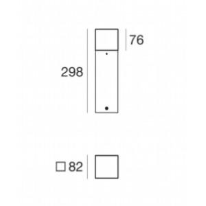 Traddel - Paletti luminosi da giardino - I-Cube - Paletto esterni 300 mm