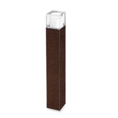 Traddel - Paletti luminosi da giardino - I-Cube - Paletto esterni 550 mm - Corten -  - Bianco caldo - 3000 K - Diffusa