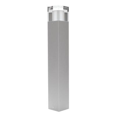 Traddel - Paletti luminosi da giardino - I-Cube - Paletto esterni 550 mm - Grigio zirconio -  - Bianco caldo - 3000 K - Diffusa