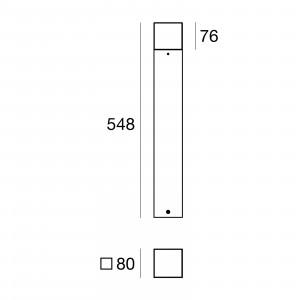 Traddel - Paletti luminosi da giardino - I-Cube - Paletto esterni 550 mm