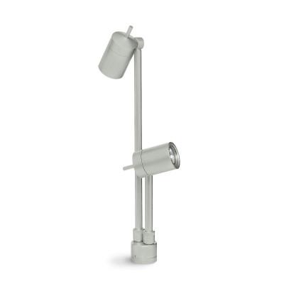 Traddel - Paletti luminosi da giardino - Vision 2 - Faretto orientabile 2 luci - Grigio alluminio - LS-LL-51475