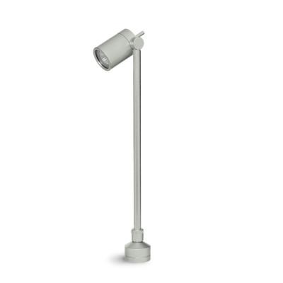 Traddel - Paletti luminosi da giardino - Vision 2 - Faretto orientabile pavimento - Grigio alluminio - LS-LL-51405
