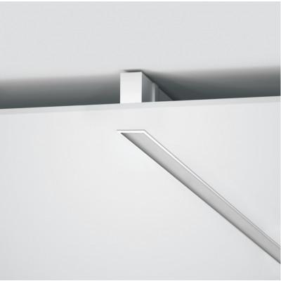 Traddel - Profil - Mini Outline - Lampada profilo ad incasso - Bianco goffrato RAL 9003  -  - Bianco caldo - 3000 K - Diffusa