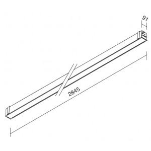Traddel - Profil - Outline M - Incasso a soffitto/parete