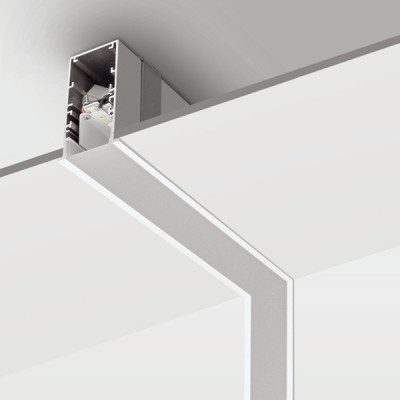 Traddel - Profilo incasso totale - Mini Outline LED - Curva 90° parete/soffitto