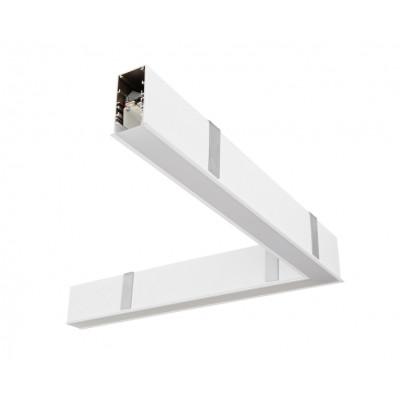 Traddel - Profilo incasso totale - Mini Outline LED - Curva 90° soffitto/soffitto dx - Bianco goffrato RAL 9003  -  - Bianco caldo - 3000 K - Diffusa