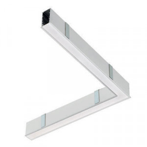Traddel - Profilo incasso totale - Mini Outline LED - Curva 90° soffitto/soffitto dx