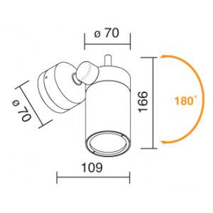 Traddel - Proiettore orientabile per interni - Vision 2 - Faretto orientabile S