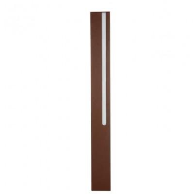 Traddel - Stick - Illuminazione per esterni - Stick 1 - Paletto led doppia emissione 654mm - Corten -  - Bianco caldo - 3000 K - Diffusa