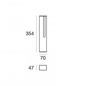 Traddel - Stick - Illuminazione per esterni - Stick 1 - Paletto led emissione singola 354mm