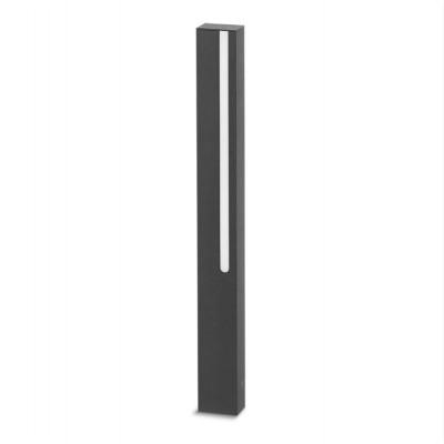 Traddel - Stick - Illuminazione per esterni - Stick 1 - Paletto led emissione singola 654mm - Grigio zirconio -  - Bianco caldo - 3000 K - Diffusa