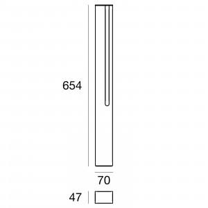 Traddel - Stick - Illuminazione per esterni - Stick 1 - Paletto led emissione singola 654mm