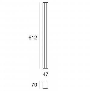 Traddel - Stick - Illuminazione per esterni - Stick 2 - Paletto illuminazione esterni 612mm doppia emissione