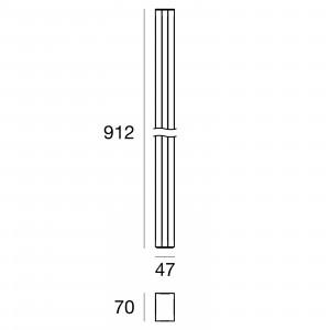 Traddel - Stick - Illuminazione per esterni - Stick 2 - Paletto illuminazione esterni 912mm doppia emissione