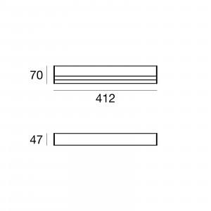 Traddel - Stick - Illuminazione per esterni - Stick - Applique esterni 412mm