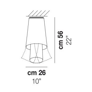 Vistosi - Assiba - Assiba PL2 - Plafoniera 2 vetri