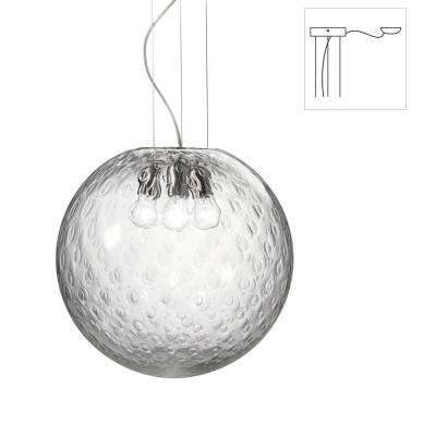 Vistosi - Bolle - Bolle SP 45 D1 - Lampadario a una luce con attacco decentrato - Cristallo baloton - LS-VI-SPBOLLE45D1CR