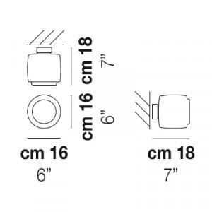 Vistosi - Bot - Bot FA16 - Faretto soffitto/parete