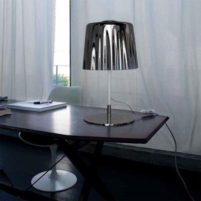 Vistosi - Cloth - Cloth LT - Lampada da tavolo L - Bianco/Natural/Cromo - LS-VI-LTCLOTHGCMCR