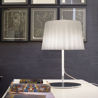 Vistosi - Cloth - Cloth LT - Lampada da tavolo L - Bianco satinato - LS-VI-LTCLOTHGBCCR