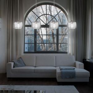 Vistosi - Damasco - Damasco SP4 - Lampada a sospensione 4 luci