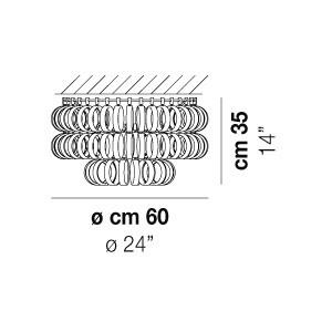 Vistosi - Ecos - Ecos PL60A - Plafoniera Small
