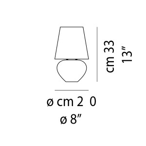 Vistosi - Naxos - Naxos TL 33 - Lampada da tavolo di design