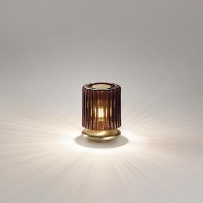 Vistosi - Retrò - Tread TL LED - Abat-jour di design - Tabacco/Ottone - LS-VI-LTTREADTBOT