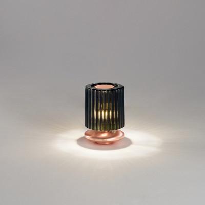 Vistosi - Retrò - Tread TL LED - Abat-jour di design - Verde/Rame - LS-VI-LTTREADVARA