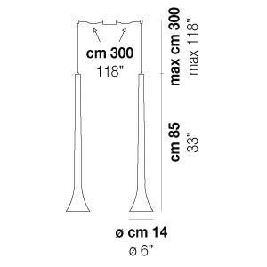 Vistosi - Sissi - Sissi SP D2 - Lampada a sospensione 2 luci