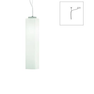 Vistosi - Tubes - Tubes SP 60 D1 - Lampadario a una luce con attacco decentrato - Bianco lucido - LS-VI-SPTUBES60D1BCNI